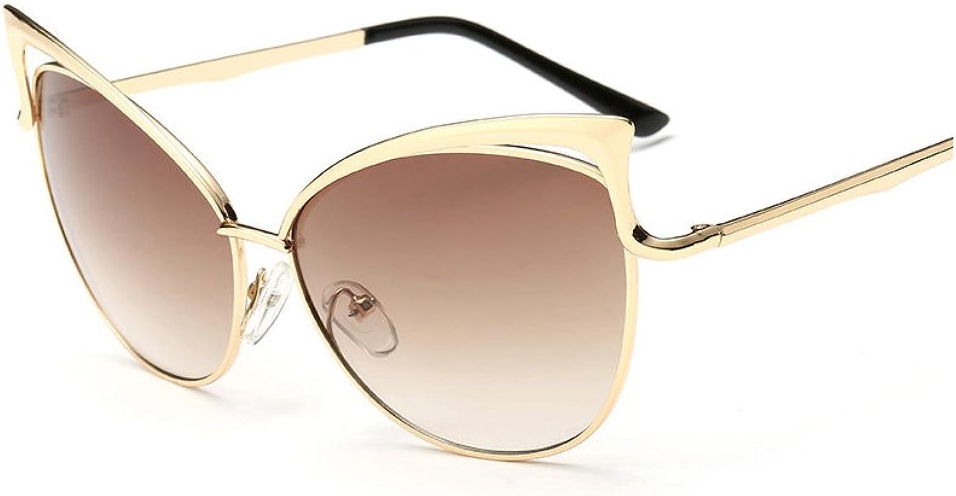 Amazon.com: bvagss Cat Eye anteojos de sol lentes de espejo ...
