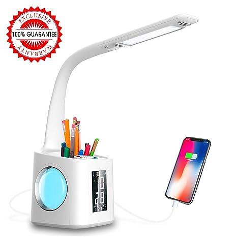Amazon.com: Wanjiaone - Lámpara LED de escritorio con puerto ...
