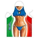''Italia Soccer'' (Girl) - Sexy Kitchen Apron - 100% Polyester