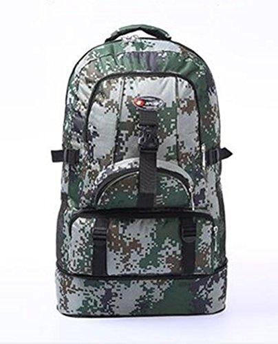 Camouflage Reiten Rucksack Outdoor Reisen Rucksack groß Kapazität männlich und weiblich (60Bergsteigen Tasche große Reise Schultern
