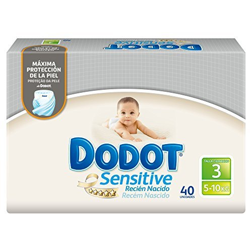 Size 3-sensitive (5-10?kg) Nappies Dodot Total 40?couches by Dodot