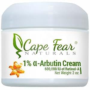 Cape Fear Naturals - 1% Alpha Arbutin Cream - Natural Skin Lightener, Even Skin Tones - 2oz Jar, 1% Alpha Arbutin
