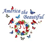 Collections Etc America the Beautiful Patriotic Garage Magnets Decoration