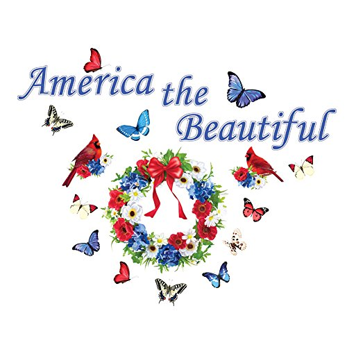 Collections Etc America the Beautiful Patriotic Garage Magnets Decoration by Collections Etc