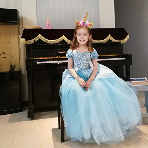 Cinderella Dress Princess Costume Party Dress 4-5y by CQDY (Image #2)