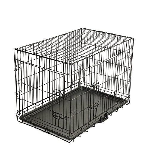 Magshion xs xl 5 sizes travel folding metal dog crate for Xl dog travel crate
