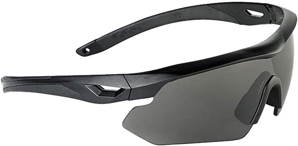 Swiss Eye Nighthawk Gafas 3 Lentes Intercambiables Caucho Negro Marco