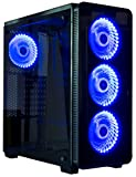 VIVO ATX Mid Tower Computer Gaming Black PC Case w/ Tempered Glass Side Panel, 6 Fan Ports, 3-speed control, USB 3.0 (CASE-V08)