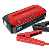iClever 600A Peak 18000mAh Portable Car Jump Starter (up to 6.5L gas or 5.2L diesel Engine) Auto Battery Booster, Power Bank and Phone Charger with Dual USB Ports, Car Charger and AC Adapter