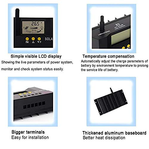 Sun YOBA 30A 12V 24V Solar Panel Battery Charge Controller Intelligent Regulator by Sun YOBA (Image #6)