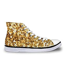 Canvas Sneakers High Top Shoe With Sequins