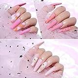 Makartt 500pcs Coffin Nail Tips Press on Nails Long Ballerina Nails Clear Full Cover Acrylic Nails False Nail Tips 10 Sizes A-02