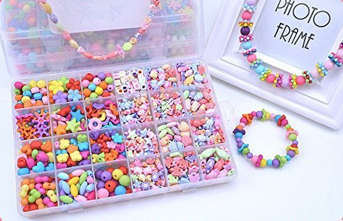 Jewelry Beads Toys, Magnolian Handmade Jewelry Making Kits for Children Bracelets, Necklace, Early Childhood Education Toys & Perfect Christmas Gift-720 Pcs