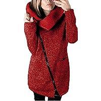 Invierno Ropa, boomboom Mujeres Plus Tamaño Sudadera cierre Larga Outwear Coat Tamaño S-5X L