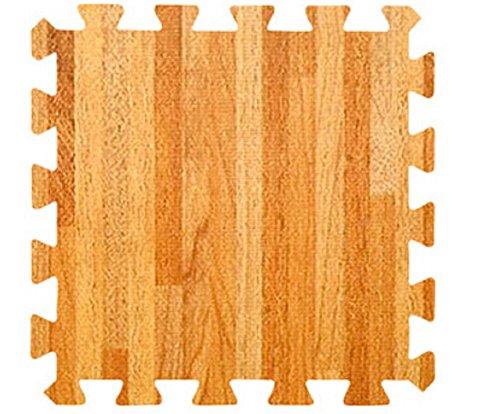 E.life 4-Tile EVA Puzzle Exercise Interlocking Wood Patte...
