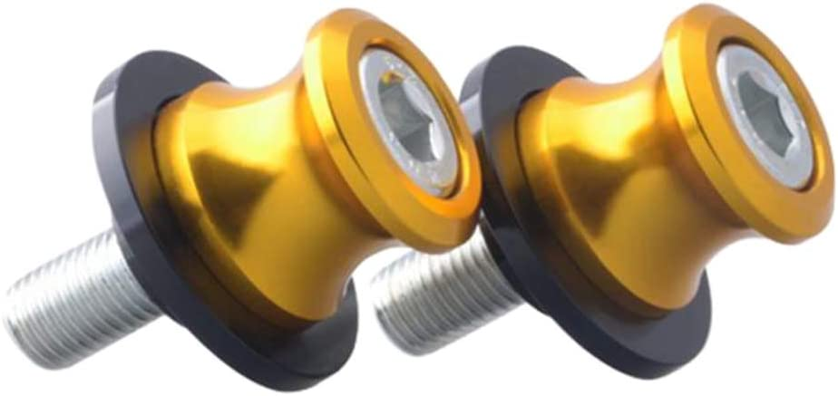 B Baosity 2pcs Aluminum 10mm M10 x 1.5 Motorcycle Swing Arm Sliders Spools CNC Swingarm Stand Screw for KTM Yamaha Kawasaki Orange