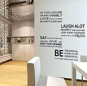 ملصق حائط مطبوع عليه عبارة Love Family Alphabet