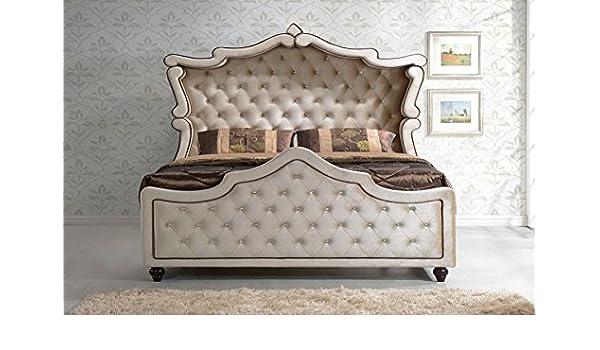 Amazon.com: Diamond Canopy Bedroom Set 3 pc King Size Bed, 2 ...