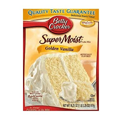 Betty Crocker Super Moist Golden Vanilla Cake Mix 432g