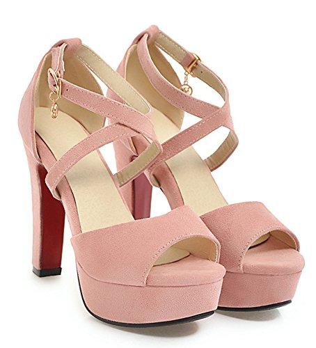 Plateforme Rose Toe Sandales Mariage Strass Original Aisun Femme Peep Boucle qnTFInEzW