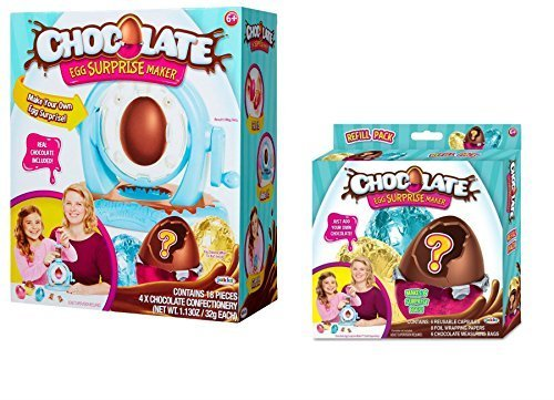 Chocolate Egg Surprise Maker Bundle with Chocolate Egg Refill Pack ()