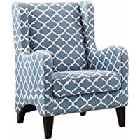 Homelegance Adlai Wingback Modern Accent Chair, Blue
