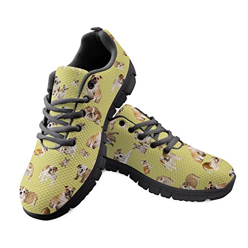 Sneakers Lightweight IDEA Animal Puzzle Women's Shoes Casual Walking Running Bulldog HUGS Sport 3 v0SqBnwq