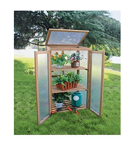 Wooden Cold Frame, Mini Greenhouse Timber Grow house Timber: Amazon ...