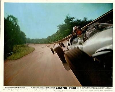 Grand Prix Original Lobby Card James Garner Formula One Race Car 1966 On Track