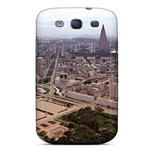 Galaxy S3 Case Cover - Slim Fit Tpu Protector Shock Absorbent Case (pyongyang North Korea)