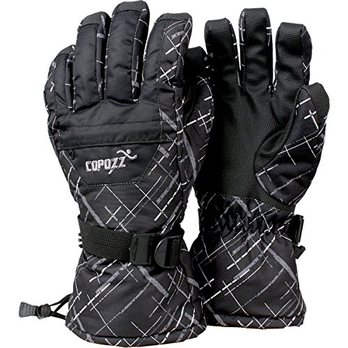 COPOZZ Waterproof Ski Snowboard Gloves for Men Women & Kids Thinsulate Winter Insulated Motorcycle Snowmobile Warm Gloves w/ Zippered Pocket