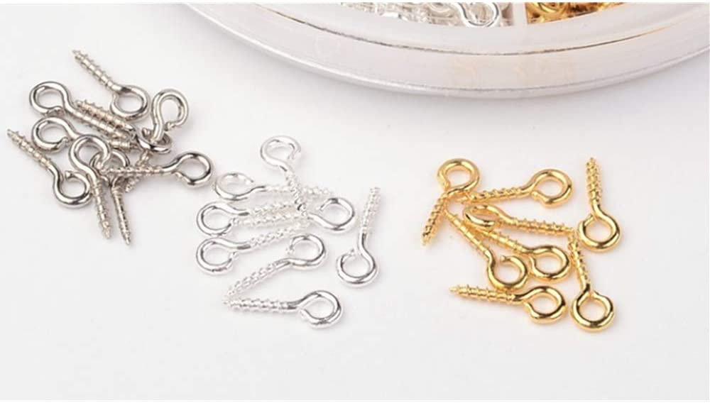 Used for Decoration DIY Crafts Silver Platinum )goldScrew Eye Pins- 8mm x4 mm//8mmx 2mmEye pins Hooks,Eye Pins Hooks Screw Eyelet 700 Pcs ( Gold