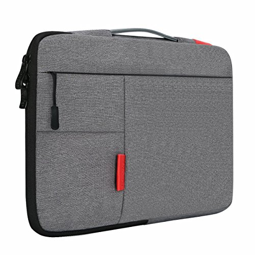 iCozzier 15 - 15.6 Inch Handle Strap Laptop Sleeve Case Bag Protective Bag for 15' Macbook Air / Macbook Pro / Pro Retina Sleeve - Dark Gray