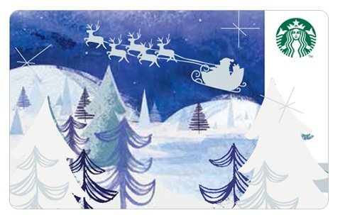 - Starbucks Holidays 2016 Christmas Limited Edition New Collectible Gift Cards Santa With Sleigh