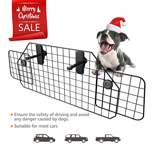 rrier Adjustable Pet Barrier for SUVs,Cars and Vehicles,Heavy Duty Wire Adjustable,Smooth Design,Black ()