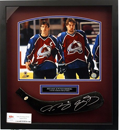 Amazon.com  Joe Sakic Peter Forsberg Dual Signed Hockey Stick in Shadow  Box  Sports Collectibles 10a5b505d