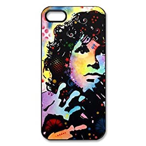 CTSLR The Doors Jim Morrison Protective Hard Case Cover Skin for Apple iPhone 5/5s- 1 Pack - Black/White - 1