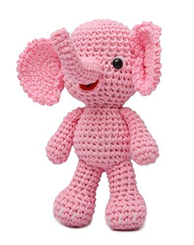 Elephant Animal Handmade Amigurumi Stuffed Toy Knit Crochet Doll VAC DaoOfThao (Knit Elephant)