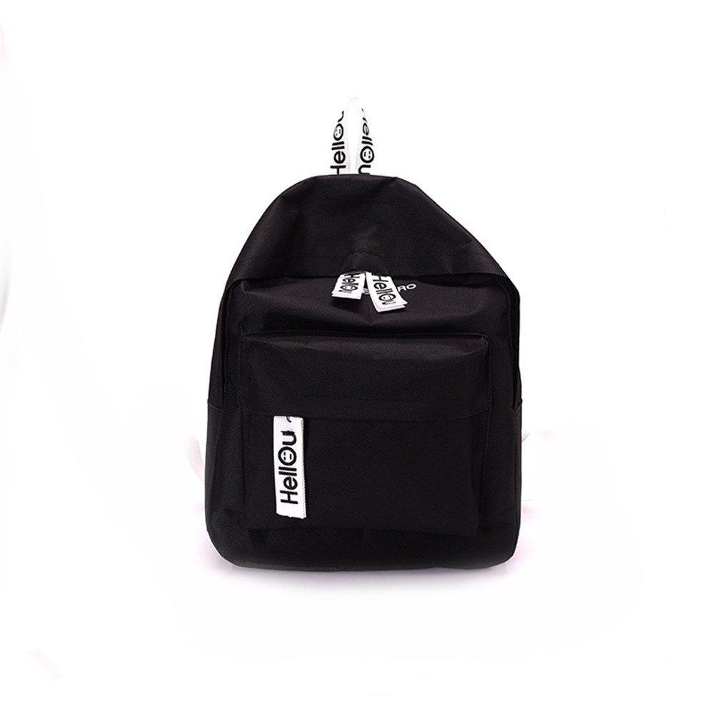 WJIANLL El trillador hombros paquete bolsas para la escuela de color puro, hombros paquetes de viajes Paquete C