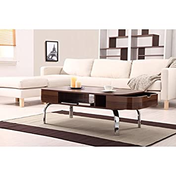 Amazoncom Furniture of America Berkley MidCentury Modern Walnut