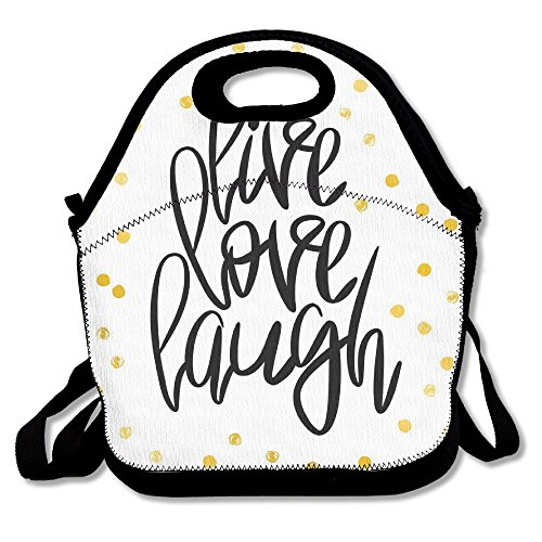 Marvin Conrad Stylized Hand Lettering On Dotted Backdrop Inspirational Phrase Lunch Bag Tote For School Work Outdoor