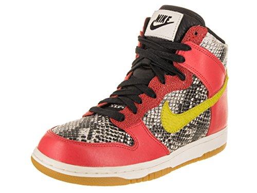 Nike Kvinnor Dunk Hi Lx Basket Sko Max Orange / Electrolime Elfenben