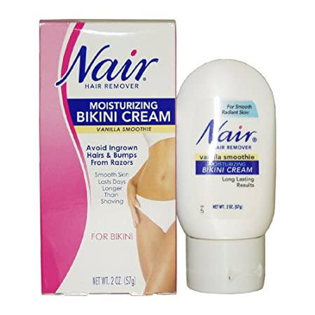 Amazon.com : Nair Hair Remover Bikini Creme, Vanilla Smoothie 2 Ounce Bottle : Hair Removal Cream For Women Pubic Area In India : Beauty