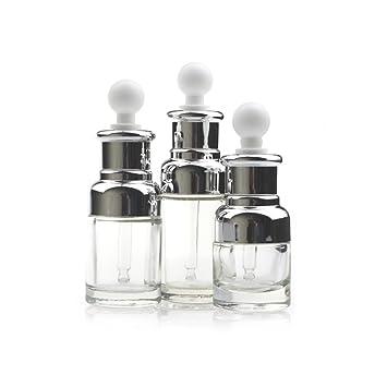 1pcs 30 ml/50 ml cuentagotas botella de aceite esencial de cristal transparente vacía de