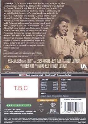 Marty [Francia] [DVD]: Amazon.es: Ernest Borgnine, Betsy Blair, Ernest Minciotti, Augusta Ciolli, Joe Mantell, Karen Steele, Jerry Paris, Delbert Mann, Ernest Borgnine, Betsy Blair: Cine y Series TV
