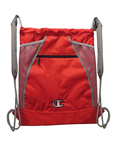Champion Trigger Sackpack, Red/Grey (Champion Laptop Backpack)