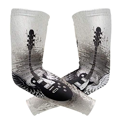 Anyangquji Music Guitar with Wings Arm Sleeve Protectiv for Man Elbow Brace for Arthritis (1 Pair)