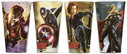 ICUP Marvel Avengers Age of Ultron Full Color Pint Glass (4 Pack), Clear by ICUP