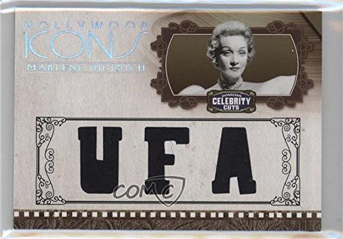 Marlene Dietrich #9/25 (Trading Card) 2008 Donruss Americana Celebrity Cuts - Hollywood Icons - Studio Die-Cut Materials [Memorabilia] #HI-MD (Icon Dietrich)