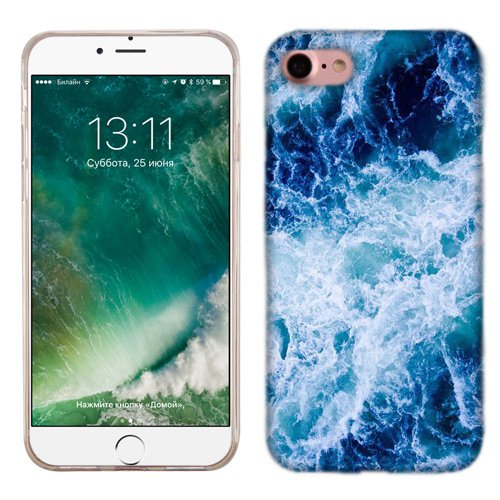 big sale 38527 87453 Apple iPhone 7 Case, Ocean Wave Cover for Apple iPhone 7 Phone